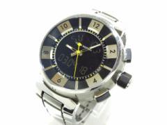 ヴィトン LOUIS VUITTON 腕時計 タンブールインブラック Q118F メンズ 黒【中古】