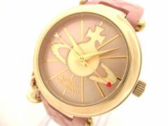ヴィヴィアン VivienneWestwood 腕時計 VV006PKPK レディース 革ベルト ピンク×アイボリー【中古】