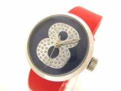 ムータ muta 腕時計 - レディース 革ベルト ネイビー【中古】