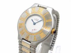 カルティエ Cartier 腕時計 マスト21 - レディース 白【中古】