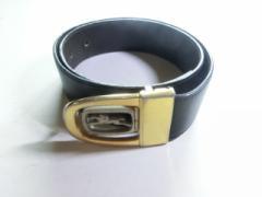 c6eaa620d603 ロンシャン LONGCHAMP ベルト レディース ゴールド×シルバー×黒 金属素材×レザー【中古】