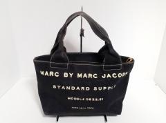 マークバイマークジェイコブス MARC BY MARC JACOBS ハンドバッグ レディース - M3123201 黒×アイボリー キャンバス【中古】