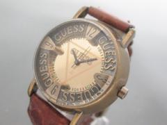 ゲス GUESS 腕時計 - レディース 革ベルト ゴールド【中古】