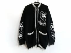 バレンザポースポーツ VALENZA PO SPORTS 長袖セーター サイズ40 M レディース 黒×白 ジップアップ【中古】