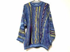 クージー COOGI/CUGGI 長袖セーター サイズS レディース 美品 ブルー×パープル×イエロー BLUES【中古】