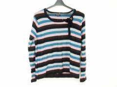 ソニアリキエル SONIARYKIEL 長袖セーター サイズ48 XL レディース ライトブルー×ピンク×黒 ボーダー【中古】