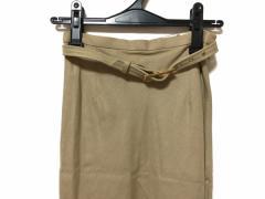 ニジュウサンク 23区 ロングスカート サイズ38 M レディース 美品 ベージュ【中古】