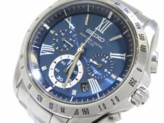 dd11b0d81a セイコー SEIKO 腕時計 ブライツ 8B82-0AG0 メンズ ネイビー【中古】