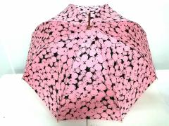 474ba4425b47 セリーヌ CELINE 傘 レディース ピンク×黒 化学繊維【中古】