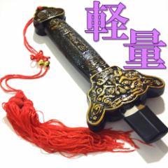 【人気】伸縮式健身剣TG-S1/茶色獅子頭柄-(太極拳カンフー演武用)