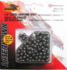 【送料が安い!】スリングショット用玉「6mmスチールショット」250個入りMARKSMAN製