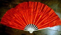 木製 踊り扇子・大(赤色)右手用