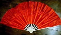 木製 踊り双扇子・大(赤色) 左右両手用1対セット