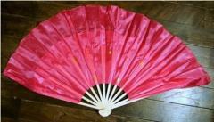 木製 踊り双扇子・大(ピンク色) 左右両手用1対セット
