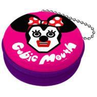 【Goods】 キュービックマウス 携帯シール入りジッパー缶ケース ミニー(Pink)