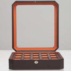 ウルフ 時計収納ケース(15本収納) ブラウン/オレンジWOLF 458506-WINDSOR[458506WINDSOR]【返品種別B】