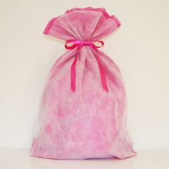 シモジマ 不織布リボン巾着袋 LLサイズ(ピンク) 【返品種別B】