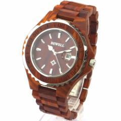ビーウェル BEWELL ビーウェル 天然木製腕時計 ZS-W100BG-WE【返品種別B】