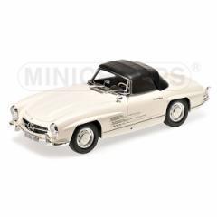 ミニチャンプス 1/18 メルセデス ベンツ 300 SL ロードスター (W198) 1957 ホワイト【180039034】ミニカー 【返品種別B】