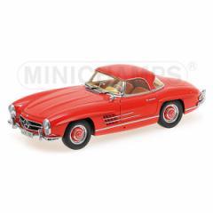 ミニチャンプス 1/18 メルセデスベンツ 300SL ロードスター ハードトップ(W198II)1954 レッド【180039041】ミニカー 【返品種別B】
