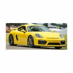 ミニチャンプス 1/43 ポルシェ ケイマン GT4 クラブスポーツ ストリートバージョン イエロー【437166100】ミニカー 【返品種別B】
