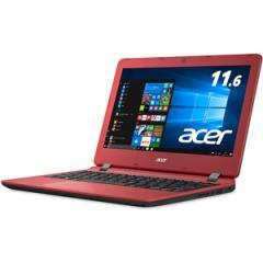 エイサー 11.6型 ノートパソコンAspire ES ローズウッドレッド (KINGSOFT Office 2013 Standard) ES1-132-F14D/R【返品種別A】