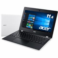 エイサー 11.6型ノートパソコン Aspire One 11 クラウドホワイト (KINGSOFT Office 2013 Standard) AO1-132-N14N/W【返品種別A】