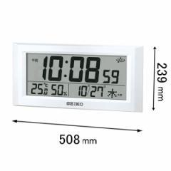 セイコークロック デジタル時計スペースリンク GP-502-W[GP502W]【返品種別A】