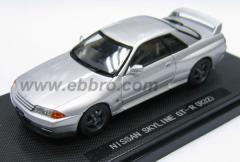 EBBRO 1/43 ニッサン スカイライン GT-R R32(シルバー)【43761】ミニカー 【返品種別B】