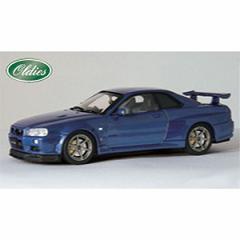 EBBRO 1/43 ニッサン スカイライン GT-R R34 VスペックII ブルー【44148】ミニカー 【返品種別B】