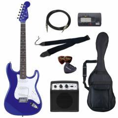 フォトジェニック エレキギター ビギナーズセット メタリックブルー Photogenic ST-180-MBL/JS-BGセツト【返品種別A】