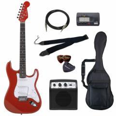 フォトジェニック エレキギター ビギナーズセット メタリックレッド Photogenic ST-180-MRD/JS-BGセツト【返品種別A】