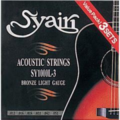 S.Yairi(ヤイリ) SY-1000L-3(3PACK) アコースティックギターセット弦【3セット】[SY1000L33PACK]【返品種別A】