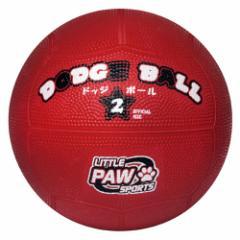 LITTLE PAW SPORTS LPFS-5767-RD ゴムドッジボール(赤) 2号球[LPFS5767RD]【返品種別A】