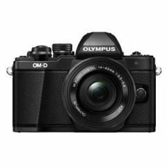 オリンパス デジタル一眼カメラ「OM-D E-M10 MarkII」14-42mm EZレンズキット(ブラック) OM-D E-M10MK2LK BLK【返品種別A】