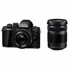 オリンパス デジタル一眼カメラ「OM-D E-M10 MarkII」 ダブルズームキット(ブラック) OM-D E-M10MK2WZK BLK【返品種別A】