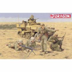 ドラゴンモデル 1/35 WW.II ドイツ軍 アフリカ軍団歩兵 エル アラメイン 1942(フィギュア4体セット)【DR6389】プラモデル 【返品種別B】