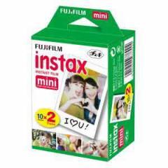 富士フイルム インスタントカラーフィルム instax mini 2パック品(10枚入×2) チェキ用フィルム INSTAX MINI WW 2【返品種別A】