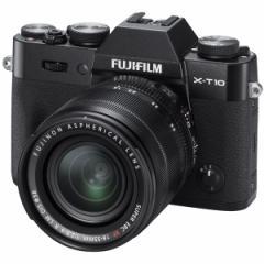 富士フイルム F X-T10LK-B デジタルカメラ「X-T10」レンズキット(ブラック)FUJIFILM X-T10[FXT10LKB]【返品種別A】