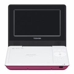東芝 SD-P710SP 7型ポータブルDVDプレーヤーピンクCPRM対応TOSHIBA REGZA レグザポータブルプレーヤー[SDP710SP]【返品種別A】