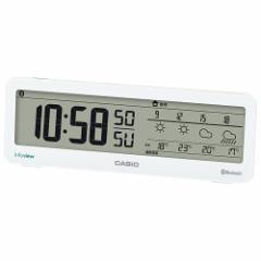 カシオ 置時計 Bluetooth 音声案内機能付きお天気情報お知らせクロック DWS-200J-7JF[DWS200J7JF]【返品種別A】