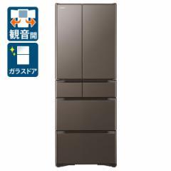 日立 R-XG56J-XH 555L 6ドア冷蔵庫(グレイッシュブラウン)HITACHI[RXG56JXH]【返品種別A】