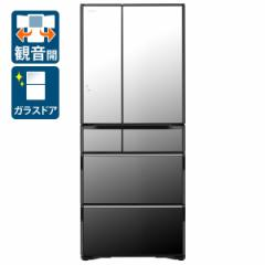日立 R-WX62K-X 615L 6ドア冷蔵庫(クリスタルミラー)HITACHI WXシリーズ[RWX62KX]【返品種別A】