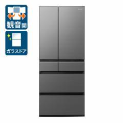 パナソニック NR-F655WPX-H 650L 6ドア冷蔵庫(ミスティスチールグレー)Panasonic[NRF655WPXH]【返品種別A】