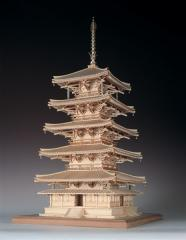 ウッディジョー 1/75 木製模型 法隆寺 五重の塔(レーザーカット加工)木製組立キット 【返品種別B】