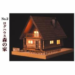 ウッディジョー ミニ建築 あかりシリーズ  2 ログハウス 森の家 【返品種別B】