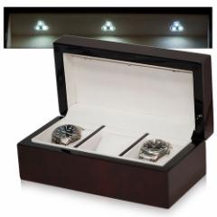 IGIMI 収納ボックス 茶色木目 3本用ソーラー時計充電用LEDライト付 ZERO 40L-5[IGZERO40L5]【返品種別B】