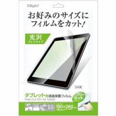 ナカバヤシ TAFF-01 タブレット用フリーカット 液晶保護フィルム(高光沢・防指紋)Digio2[TAFF01]【返品種別A】