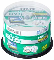 マクセル DRD47WPD.50SP データ用16倍速対応DVD-R 50枚パック CPRM対応4.7GB ホワイトプリンタブルmaxell[DRD47WPD50SP]【返品種別A】