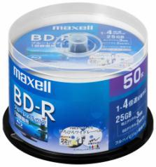 マクセル BRV25WPE.50SP 4倍速対応BD-R 50枚パック 25GB ホワイトプリンタブル[BRV25WPE50SP]【返品種別A】
